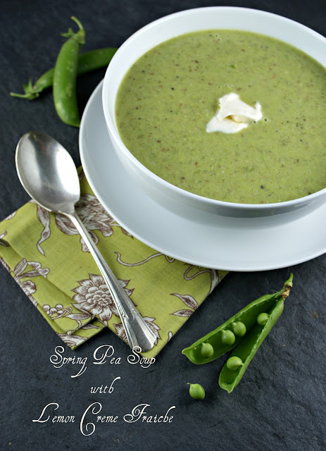 Spring Pea Soup With Chive Oil And Creme Fraiche Recipes — Dishmaps