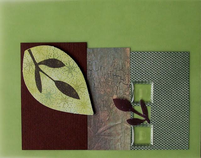 autumn leaves handmade greeting card