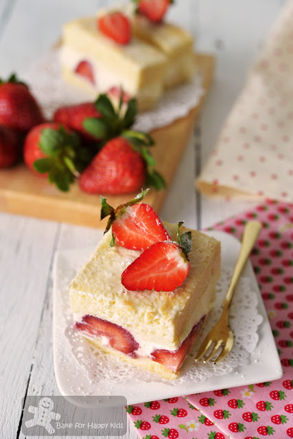 Bake for Happy Kids: Easy Japanese Strawberry Chiffon Shortcake