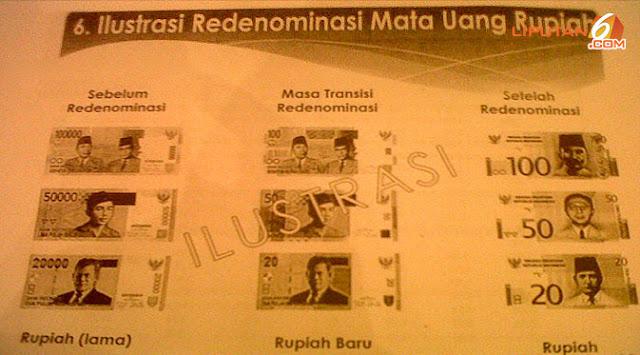 inilah Jadwal-jadwal Pelaksanaan Redenominasi Rupiah