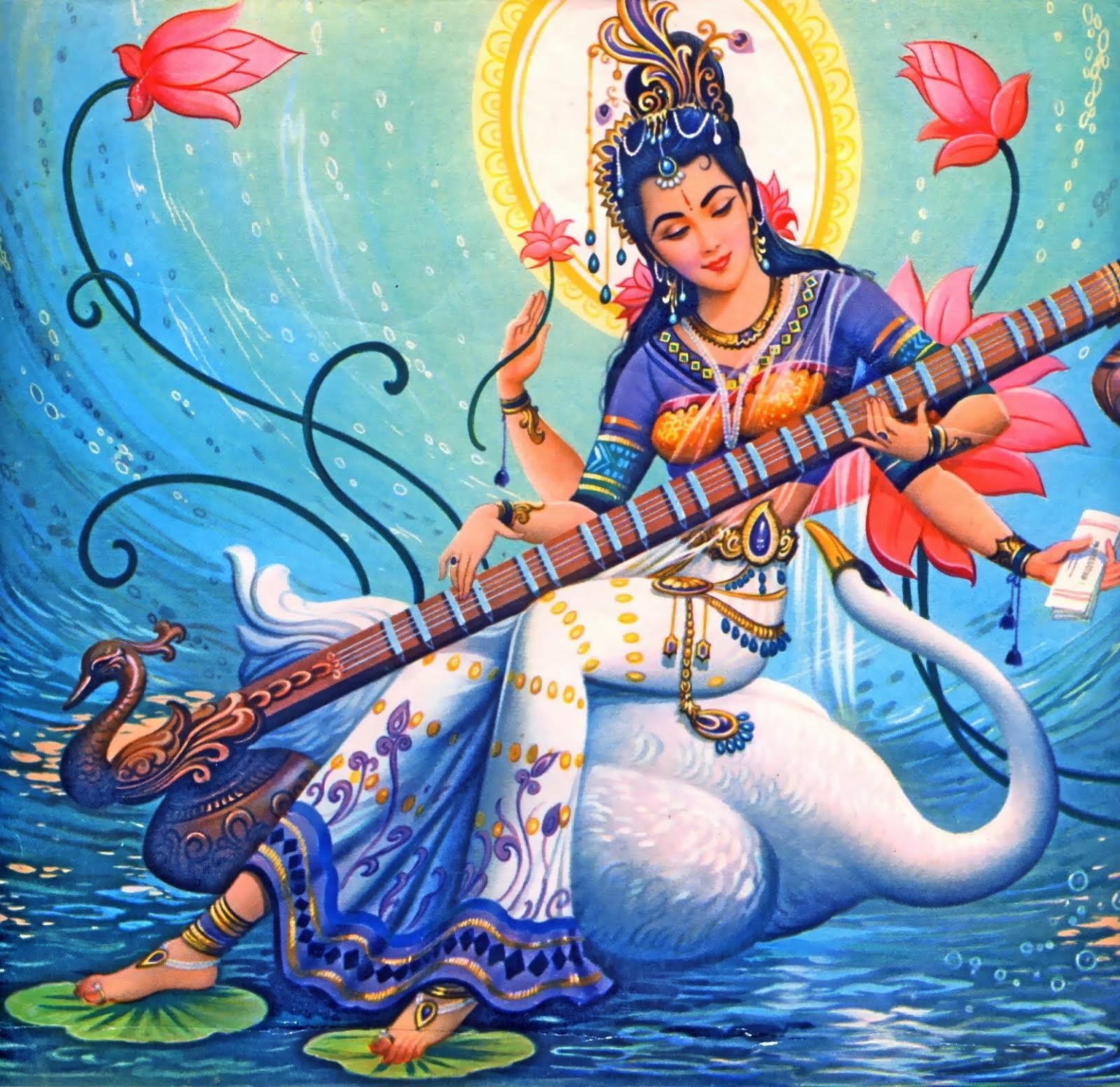 Sarasvati - Deusa Hindu da Sabedoria!