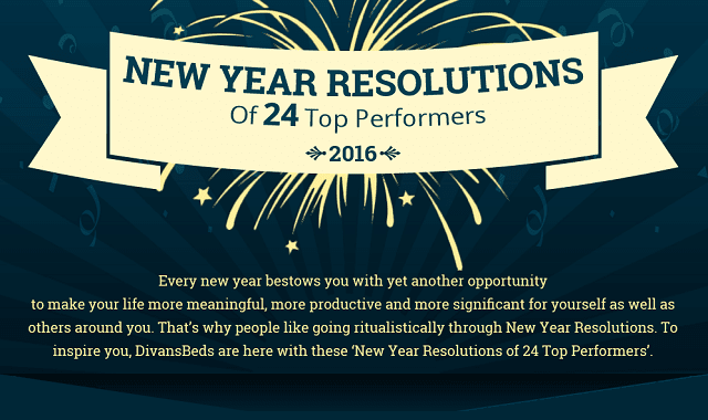New Year Resolutions of 24 Winners
