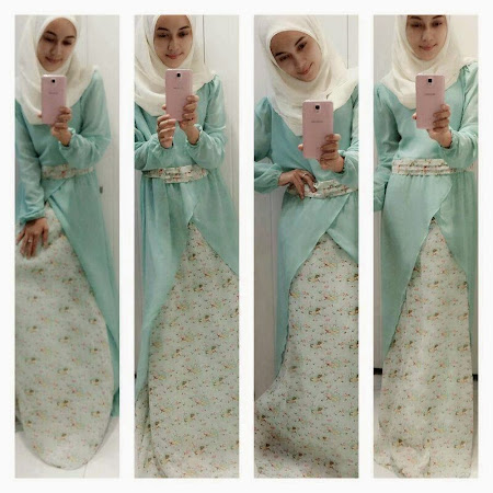 Re stock Flower Dress Dengan Empat Color Menawan Turquoise, Cream, Soft Purple & Dusty Pink