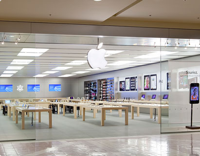 apple stores apple store place ste foy. Black Bedroom Furniture Sets. Home Design Ideas