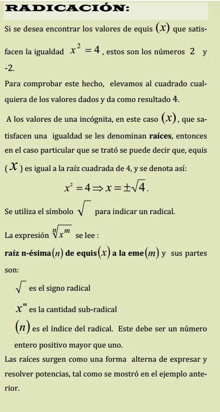 Copiar y pegar matematicas unidad 3 radicaci n for Inmobiliaria definicion
