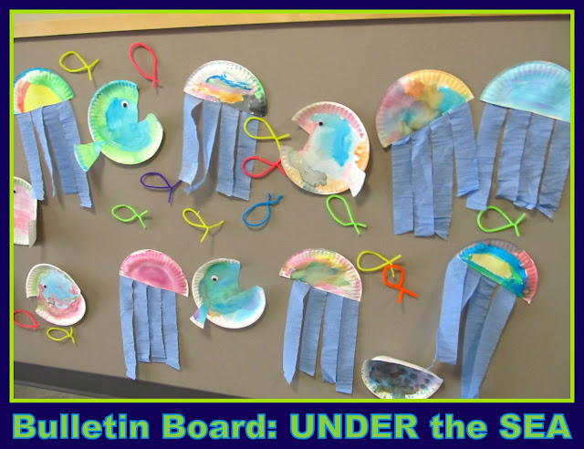 photo of: Under the Sea Preschool Art Bulletin Board via RainbowsWithinReach