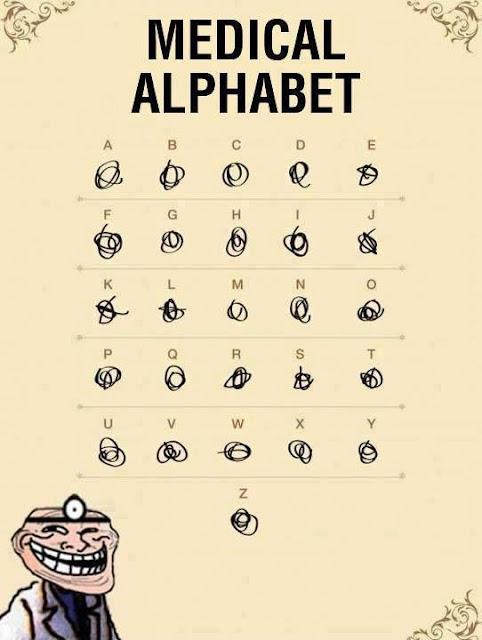 Memes - Alfabeto médico....