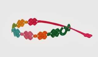 Pulsera primer aniversario cruciani de treboles multicolores