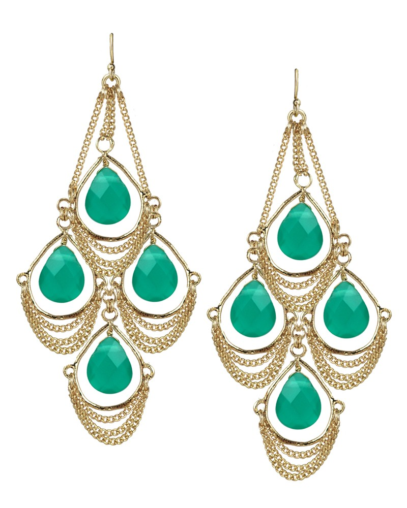 Popular  Fashion Gold Earring Designs For Women Gold Earrings 2012 New Design