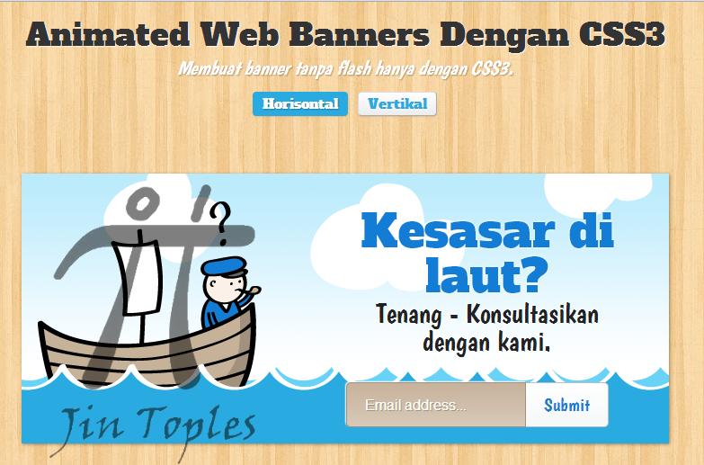 Cara Membuat Banner Animasi Dengan CSS3 dan HTML5 | Jin Toples ...
