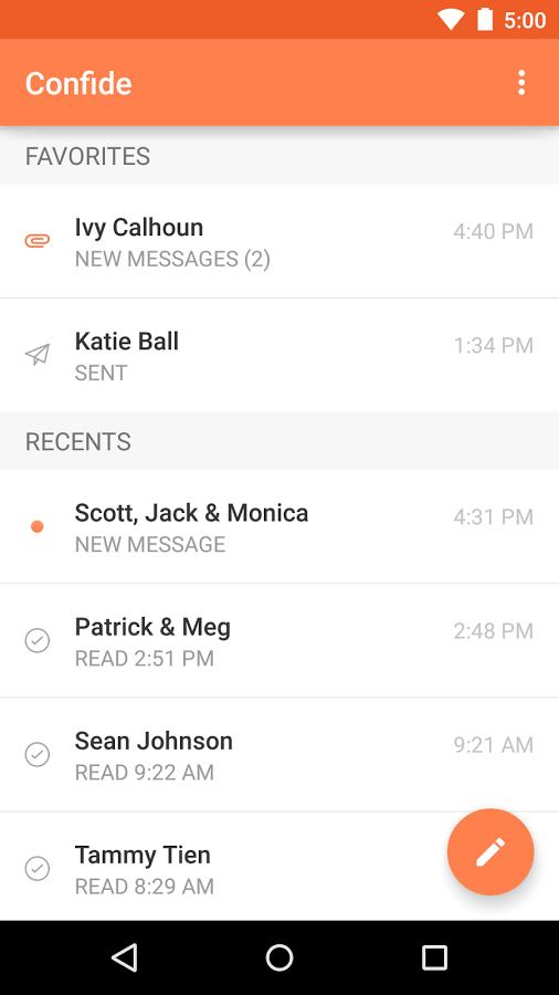 Confide, Aplikasi Android Untuk Chatingan Rahasia