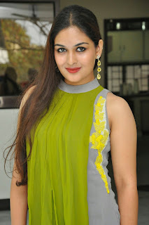 Actress Prayaga Martin Latest Picture Gallery at Pisachi Movie Success Meet 032.JPG