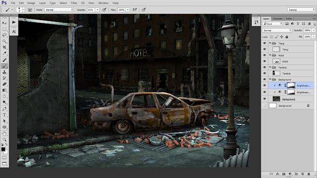23 Tutorial Photoshop Dramatic Manipulation WAR part 1