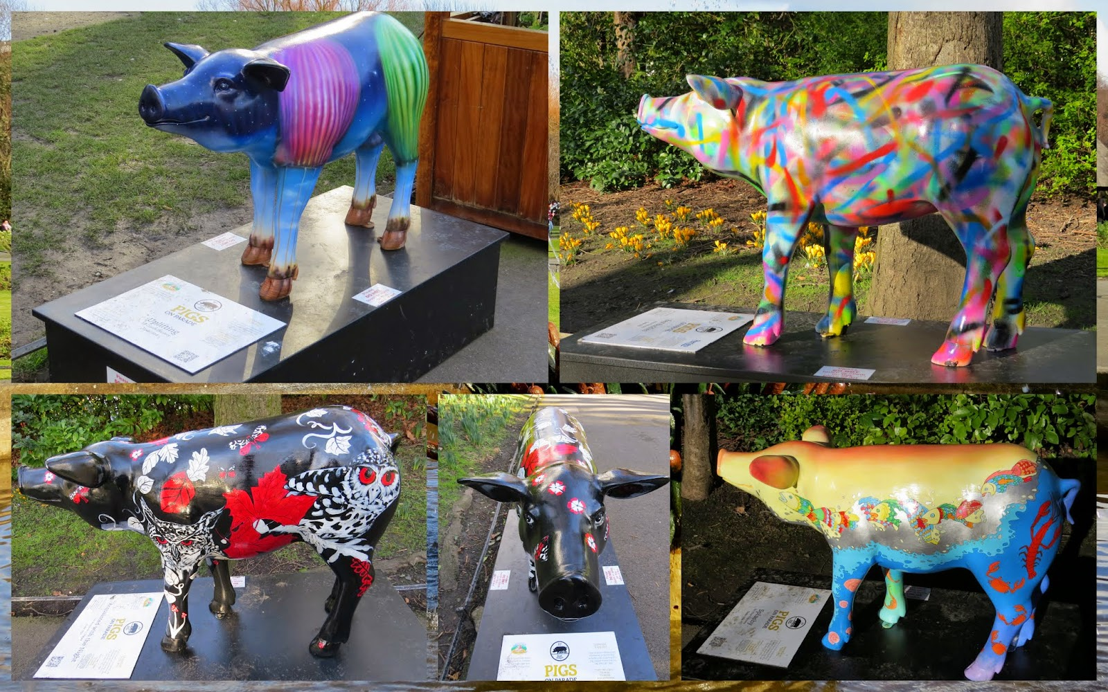 #pigsonparade in Dublin in St. Stephen's Green