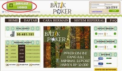 Poker batik