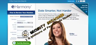 eHarmony hacked