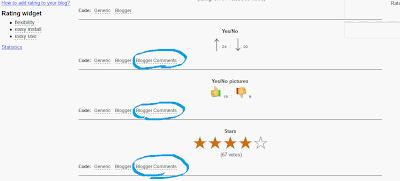 Пошаговая установка рейтингов для комментариев в Blogger