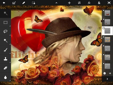 Adobe Photoshop Touch - การทำงานแบบ Layer