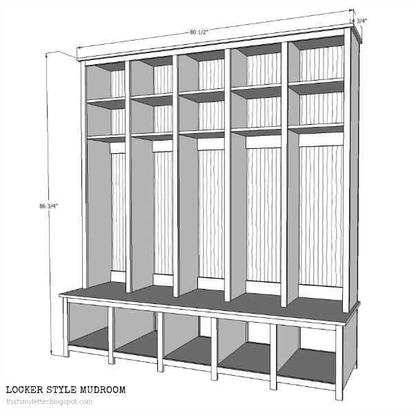 Last week I shared the shoe cubby bench plans here and this week we ...