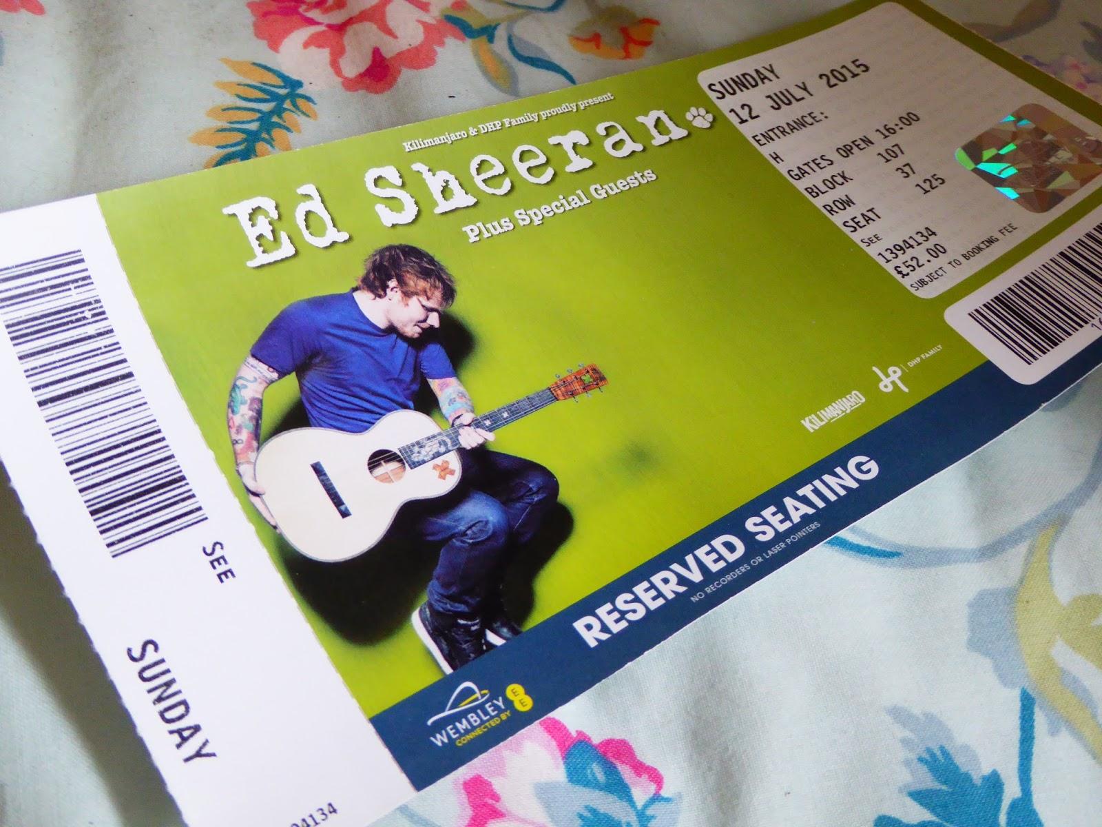 how to win ed sheeran tickets