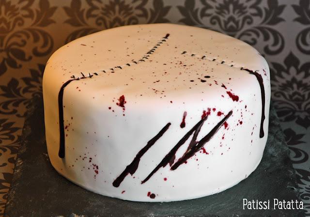 cake design, gâteau rigolo, gâteau 3D, pâte à sucre, gâteau plaies et cicatrices