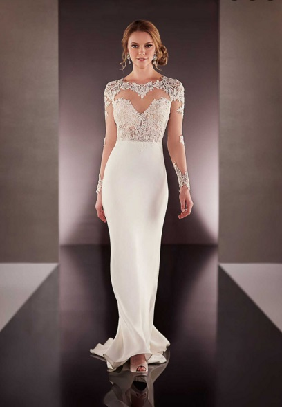 lace minimal wedding dress 2016