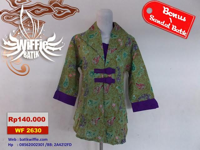 Blous Batik Cantik Hijau