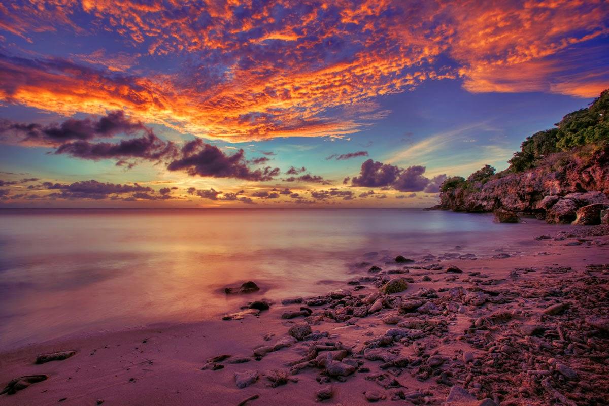 curasao sunset hdr beach photography
