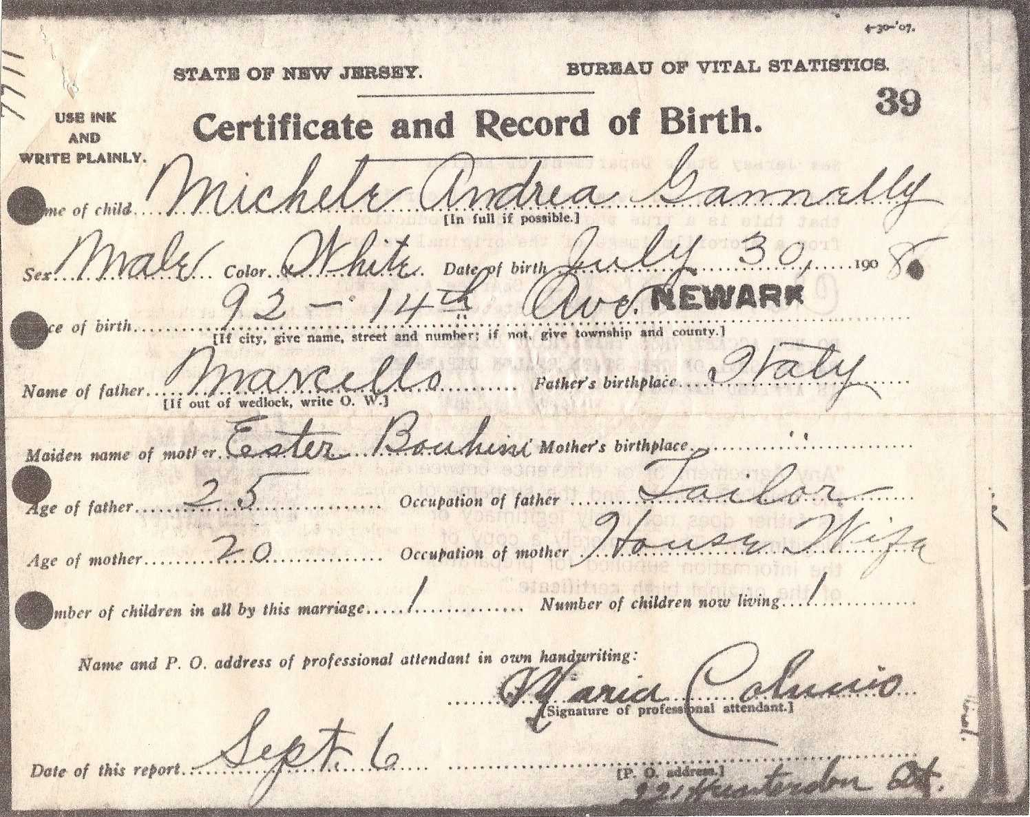 A record of those who came before us michael rocco jannelli birth michael rocco jannelli birth certificate aiddatafo Choice Image