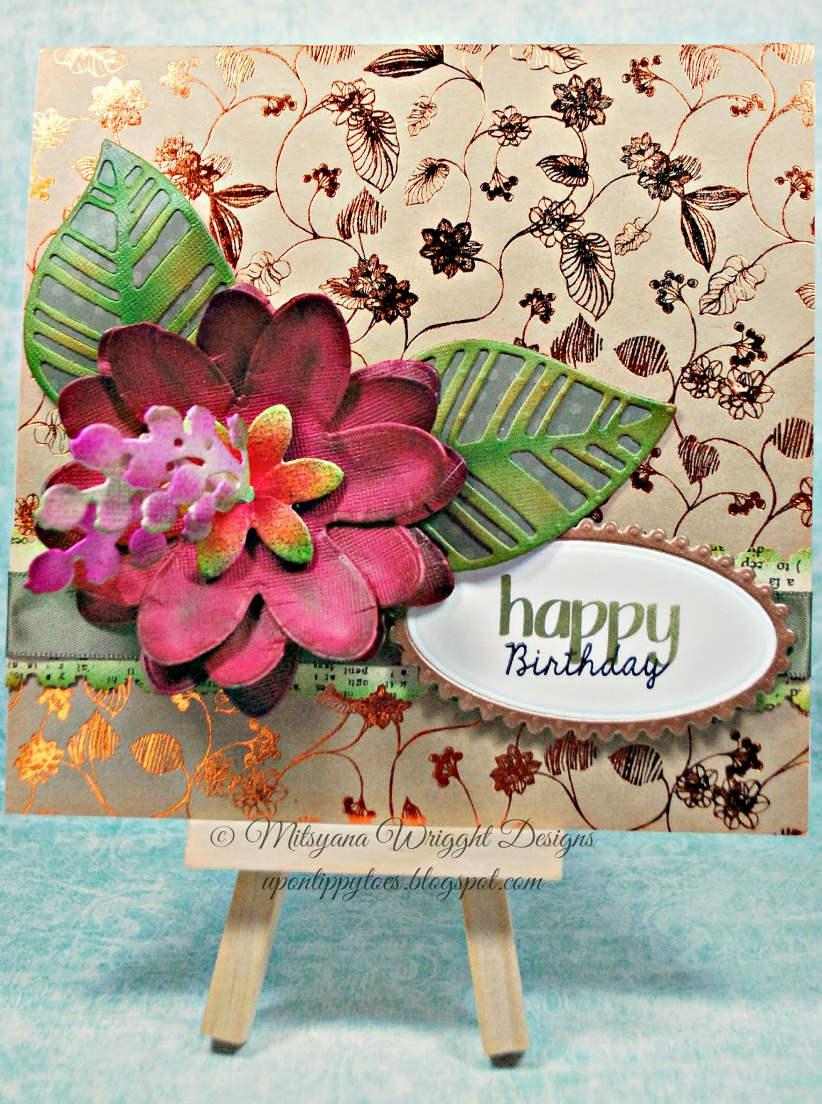 Up On Tippy Toes 3d Flower Birthday Card