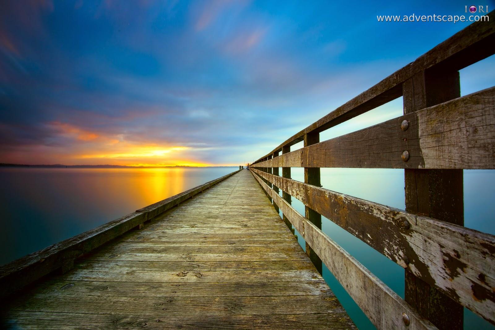 Philip Avellana, iori, adventscape, Cornwallis, jetty, seascape, landscape, North Island, New Zealand, fine art, sunrise, low angle