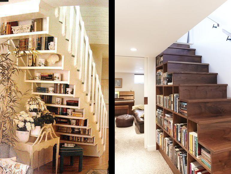 La fabrique d co escaliers et rangement conseils pour optimiser l 39 es - Bibliotheque sous escalier bois ...