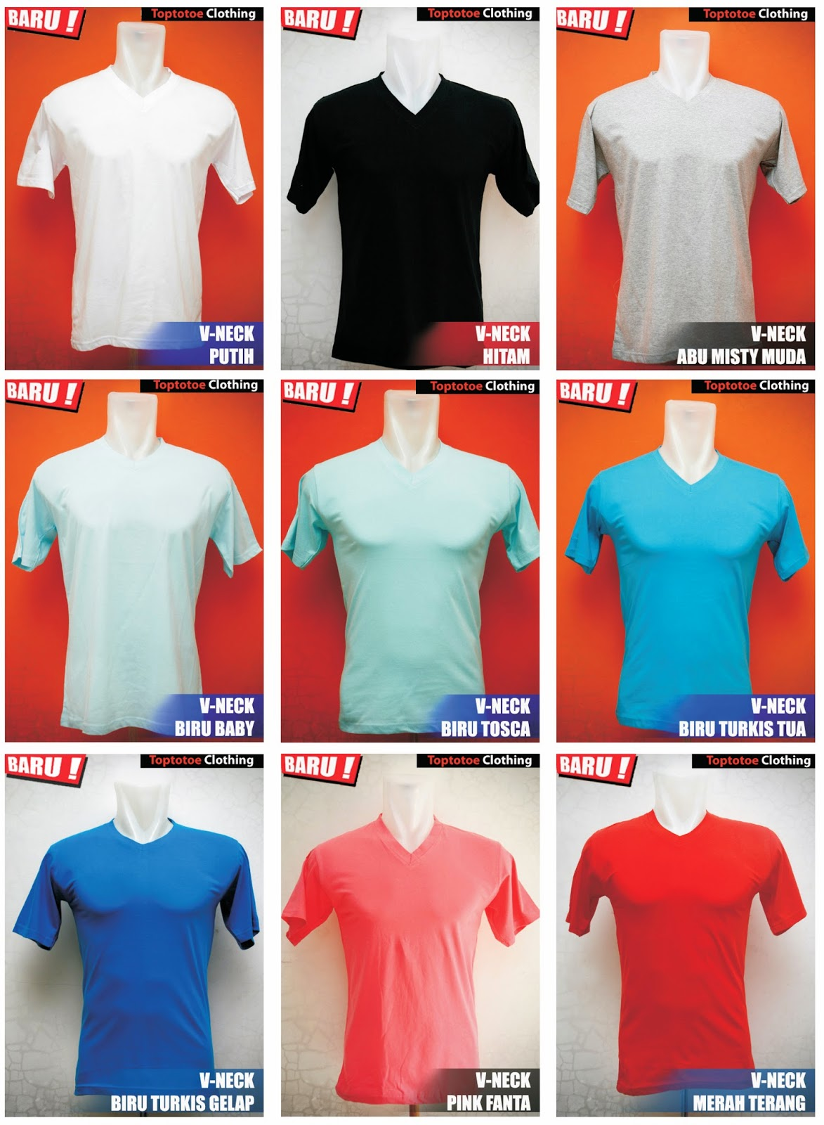Kaos Polos Vneck Bahan Cotton Combed 30s Toptotoe Clothing Yellow Baby