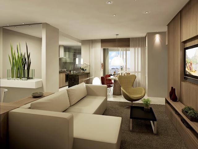 Como separar sala comedor sala de jantar e estar living for Diseno de interiores sala de estar comedor