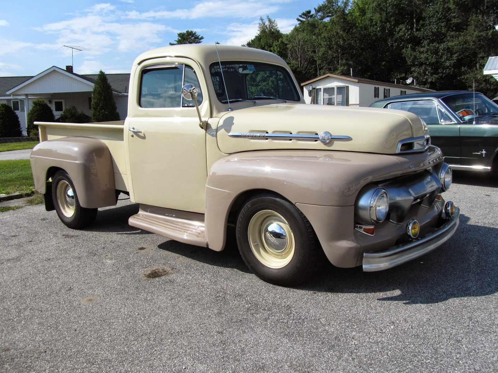 The truck was for sale at kool kustoms in orland maine mercury trucks were sold in canada caught one in nova scotia a m 3 a while back