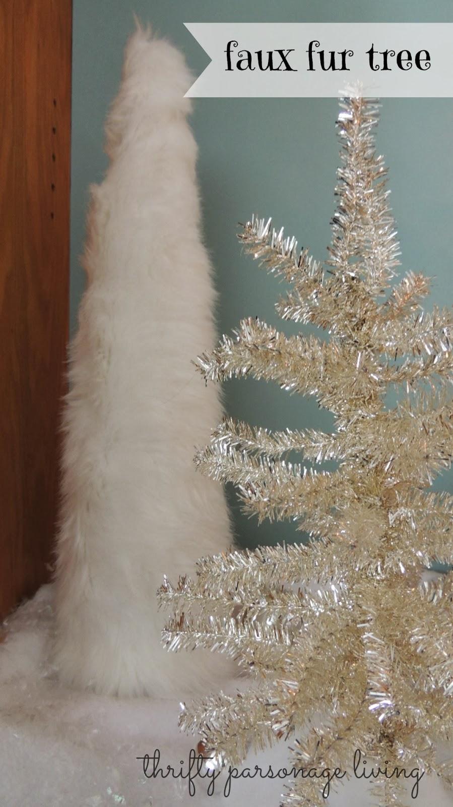 Fur Christmas Tree Skirt