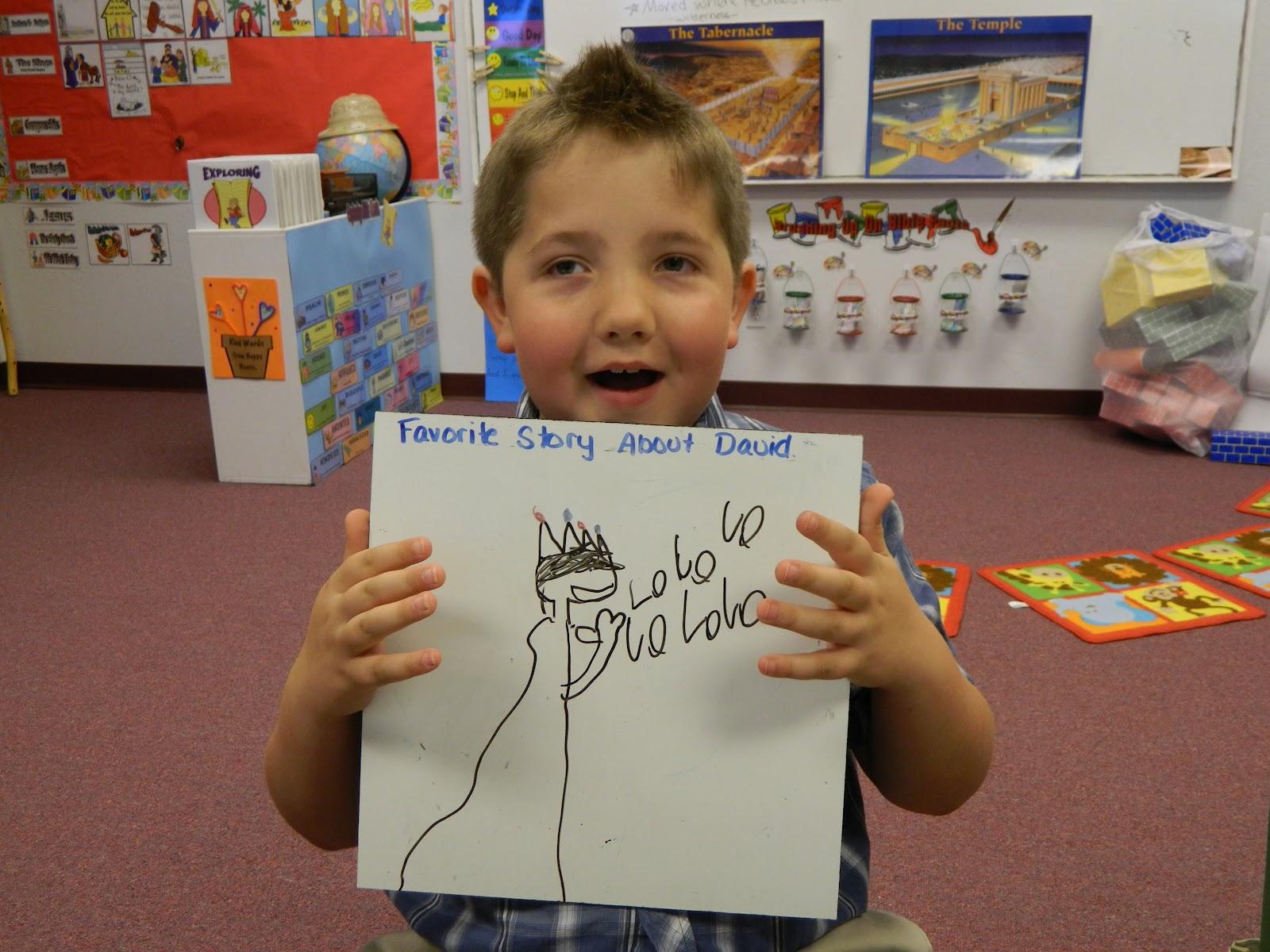King David Drawing a Picture of King David