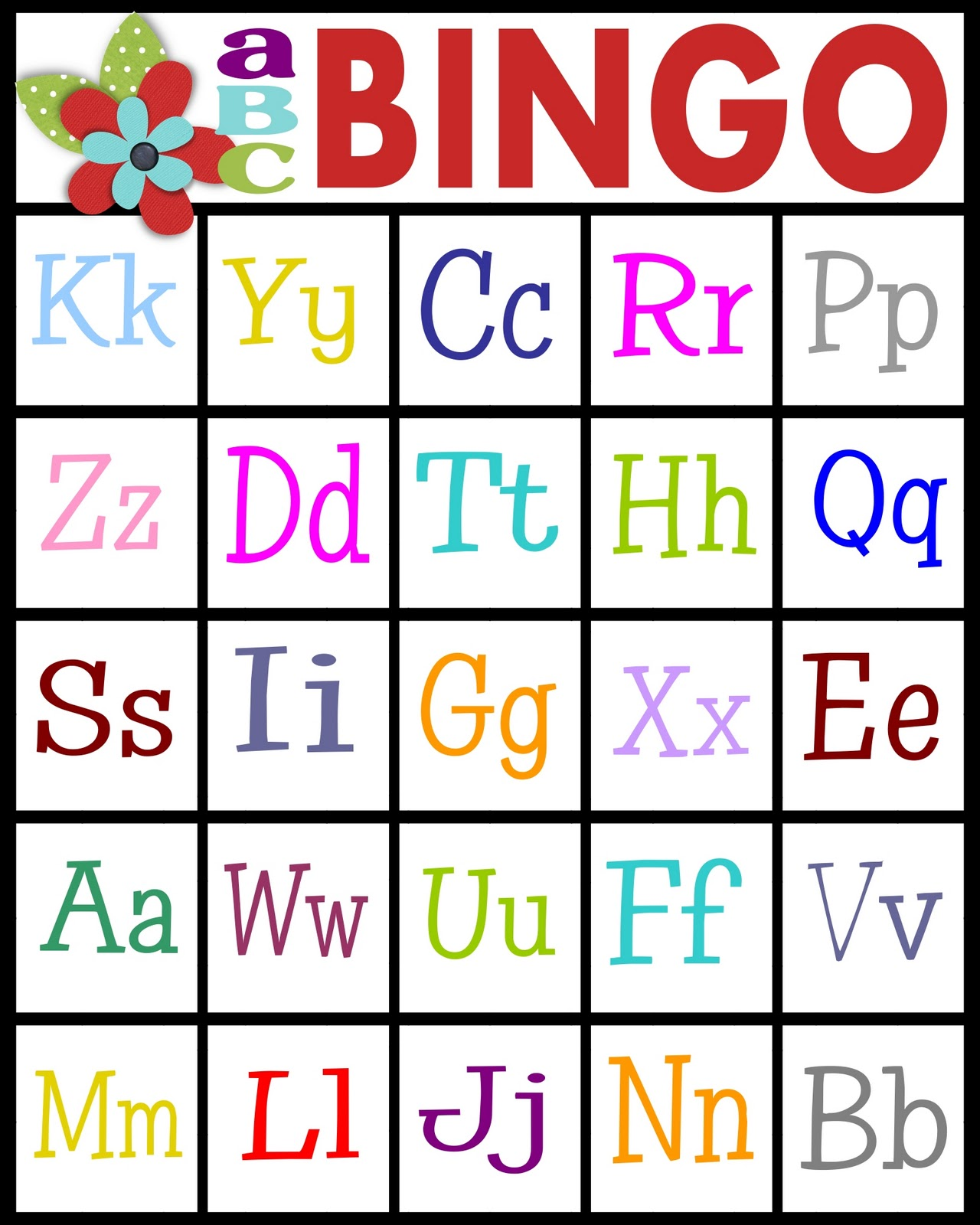 abc bingo card 4