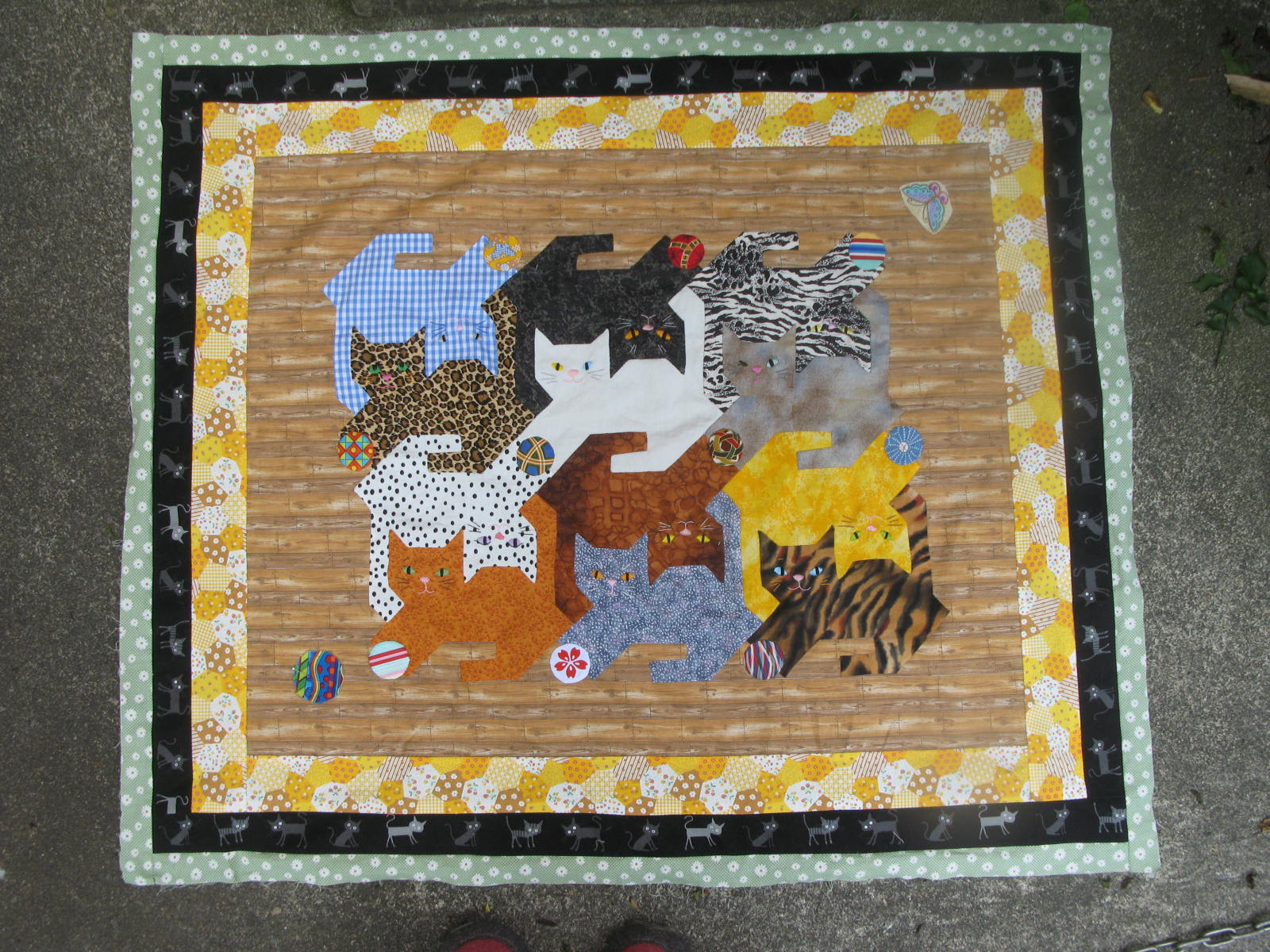 My Quilt Diary: Tessellating cats, part 5 : tessellation cat quilt pattern - Adamdwight.com