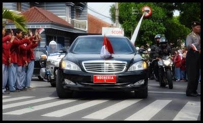 mobil kepresidenan Presiden Susilo Bambang Yudhoyono