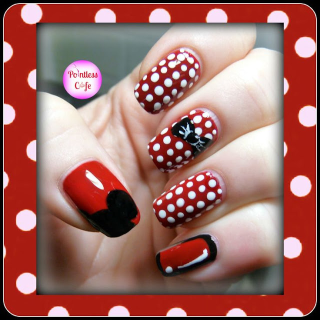 Minnie-Mouse-Nail-Art-Cartoon