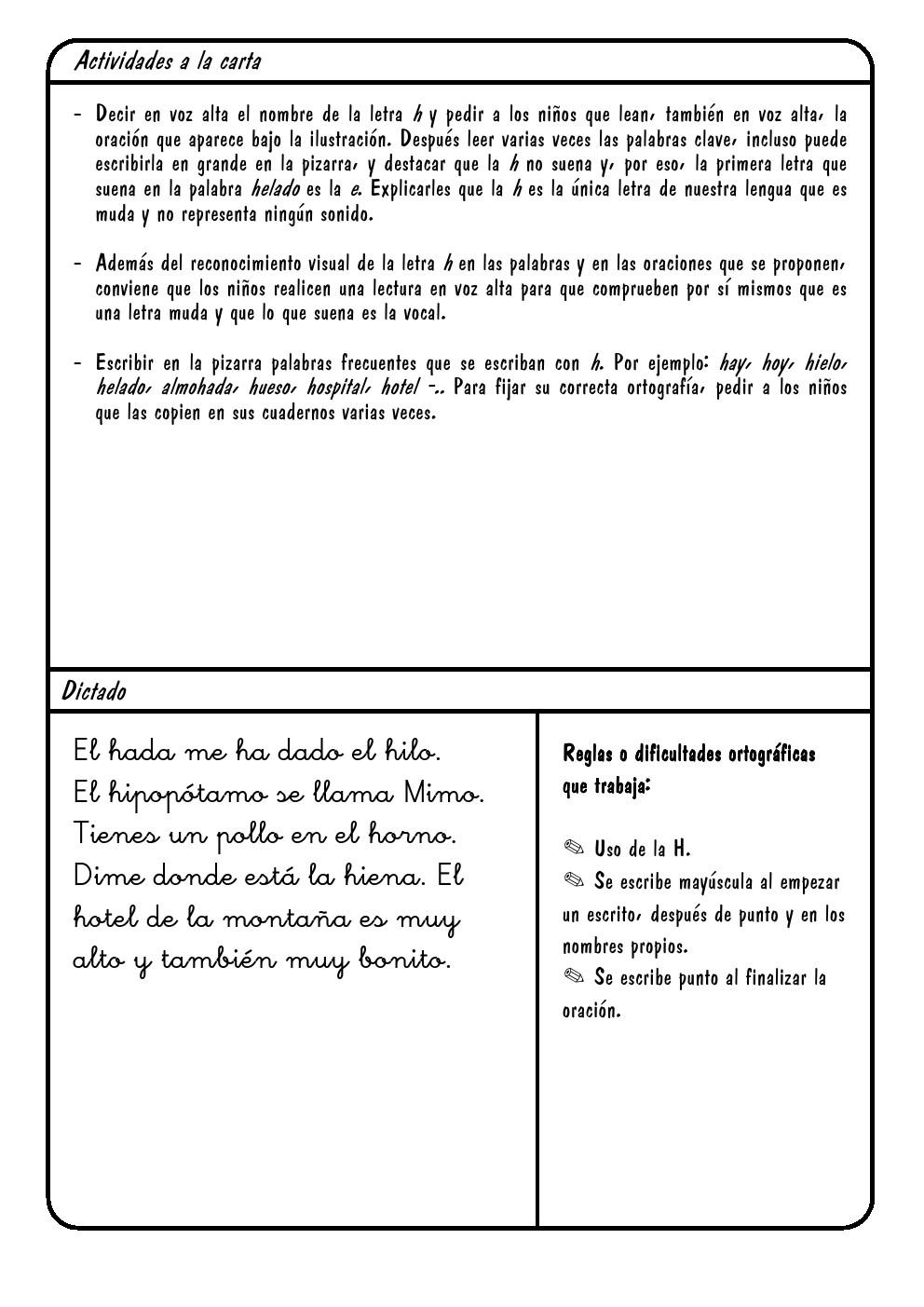 Letra H | h ~ La Eduteca