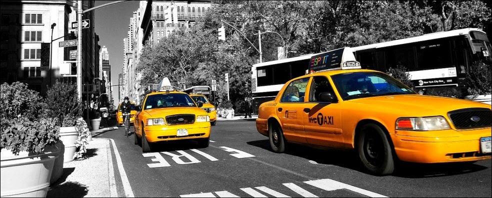 Os famosos táxis amarelos de Nova York  aNY