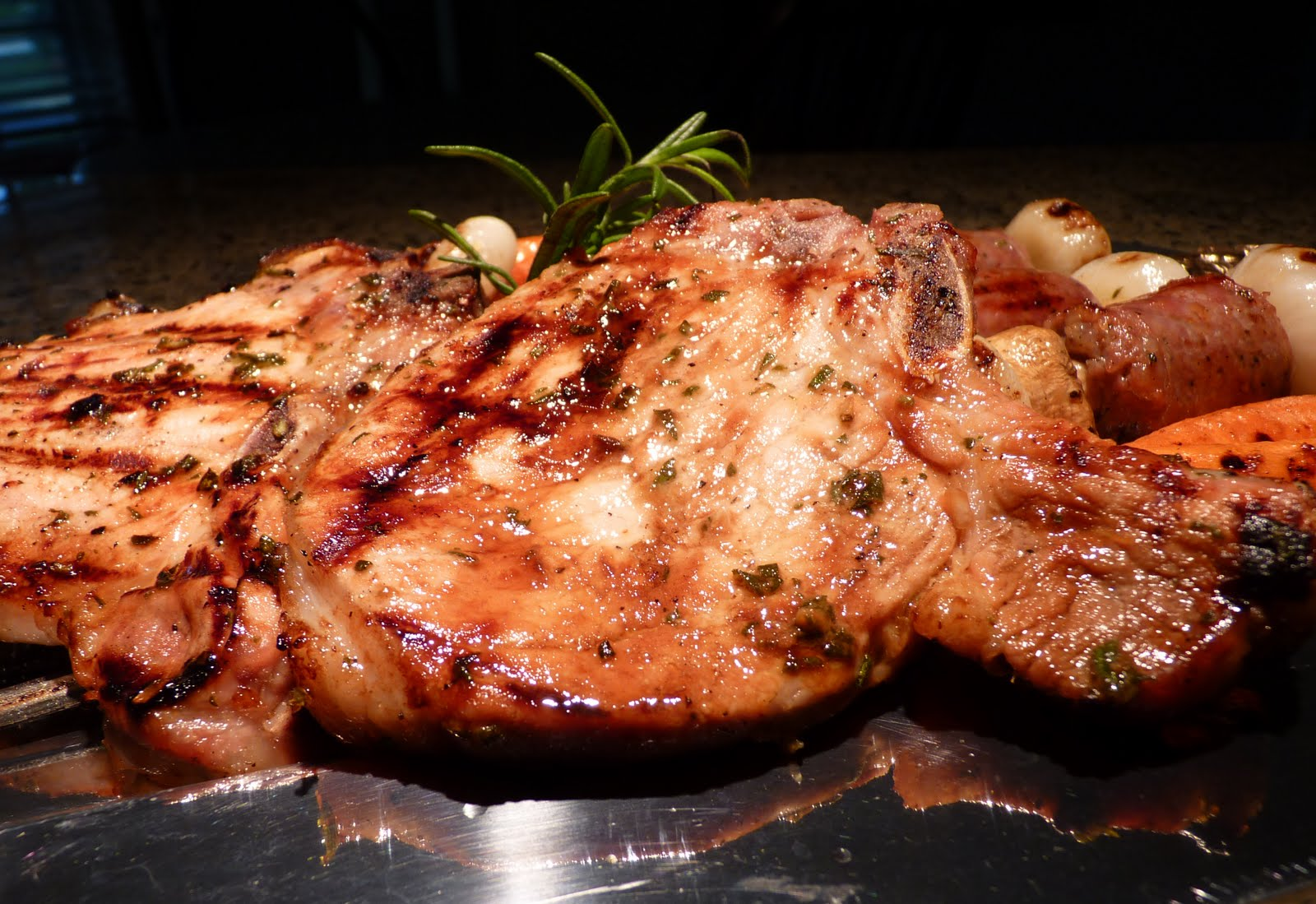 chops with red wine garlic rosemary and mint best pork chops pork ...