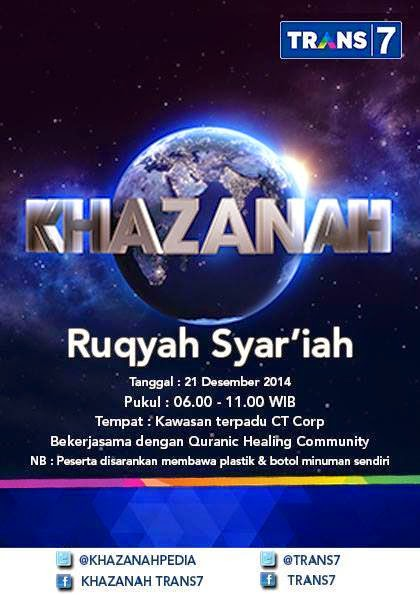 BAKTI SOSIAL KHAZANAH RUQYAH DI  JAKARTA
