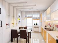 3d.maxv - visualization modeling: кухня + балкон. дизайнер -.
