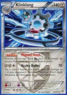 Klinklang Plasma Storm Pokemon Card