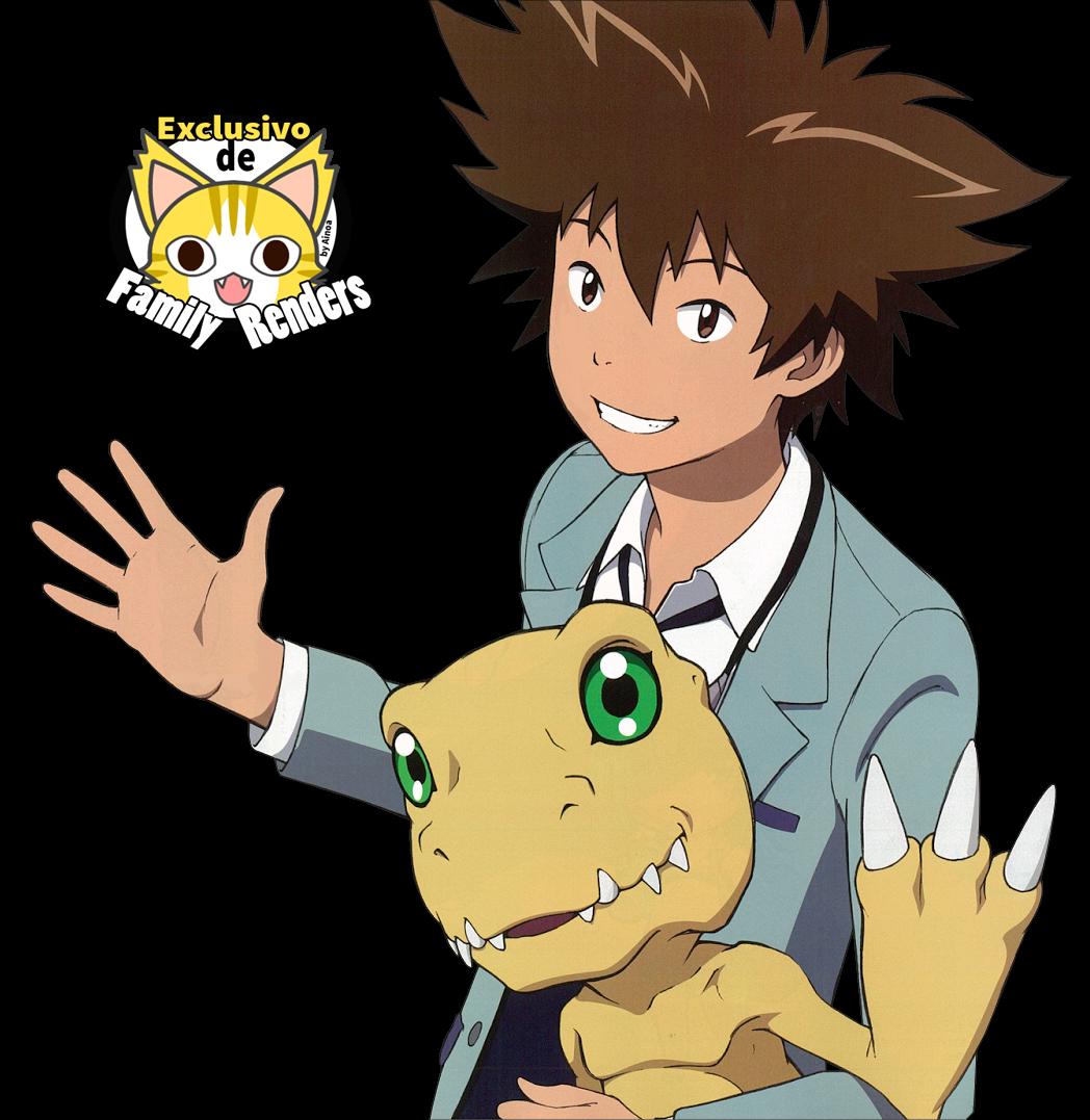 Render Agumon + Tai + Digimon TRi