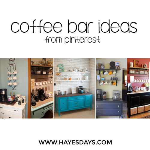 Coffee Bar Ideas ~ www.hayesdays.com