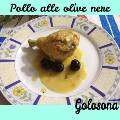 pollo alle olive nere in padella